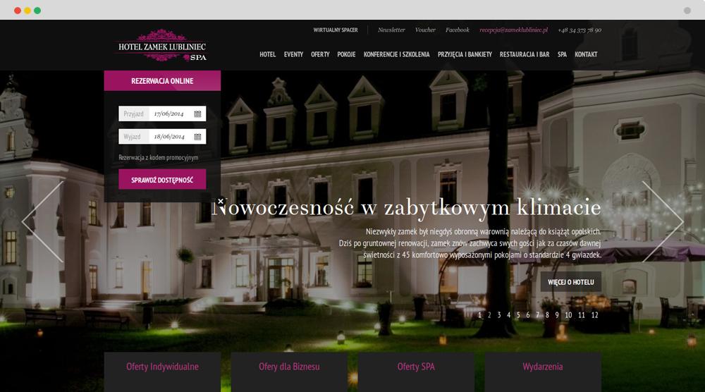 Zamek Lubliniec Anna Pawełczyk Webdesigner Portfolio